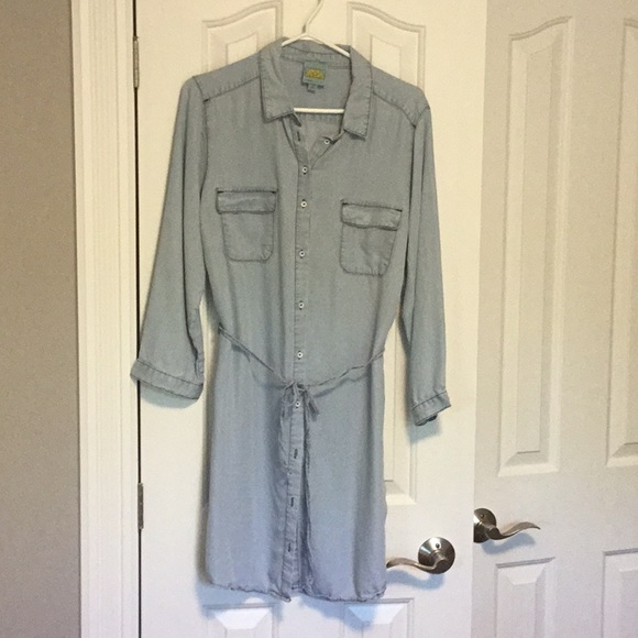 C&C California Dresses & Skirts - Light Denim Chambray Dress C&C California Sz L